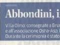 Abbondino d'Oro - La Provincia - 7-12-2014
